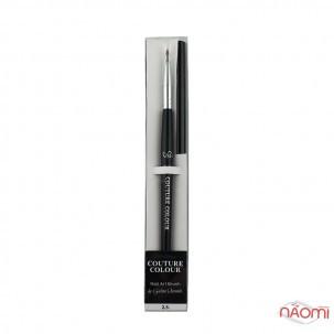 Кисть для дизайна Couture Colour & GS Nail Art Brush 2.5, овальная, искусственный ворс 5 мм