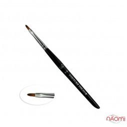 Пензлик для дизайну Couture Colour & GS Nail Art Brush 4.5, овальна, штучний ворс 9 мм