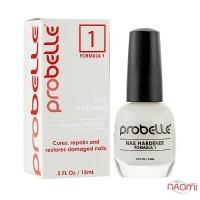Средство для лечения и восстановления поврежденных ногтей Probelle Touch N Grow Nail Hardener Formula 1, 15 мл