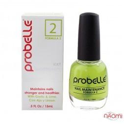 Засіб для підтримки і укреплення відновлених нігтів Probelle Touch N Grow Nail Maintenance Formula 2, 15 мл