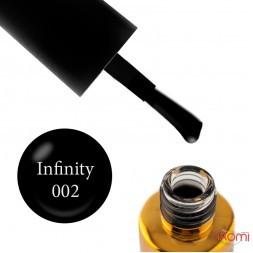 Гель-лак F.O.X Spectrum Gel Vinyl 002 Infinity, чорний, 7 мл