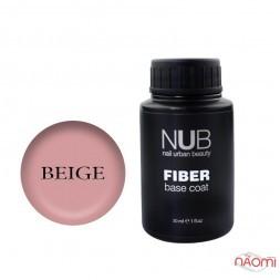 База для гель-лака с волокнами NUB Fiber Base Coat Beige, 30 мл