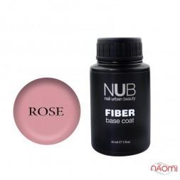 База для гель-лака с волокнами NUB Fiber Base Coat Rose, 30 мл