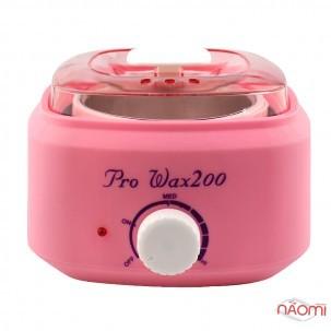 Воскоплав баночний Pro-wax 200, для воску у банці, в таблетках, в гранулах, колір рожевий
