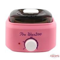 Воскоплав баночный Pro-wax 200, для воска в банке, в таблетках, в гранулах, цвет розовый