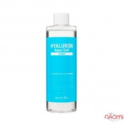 Тонер для лица Secret Key Hyaluron Aqua Soft Toner с гиалуроновой, AHA, BHA кислотами, 500 мл