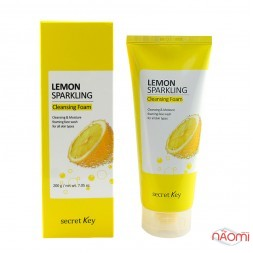 Пенка для умывания Secret Key Lemon Sparkling Cleansing Foam с экстрактом лимона, 200 г