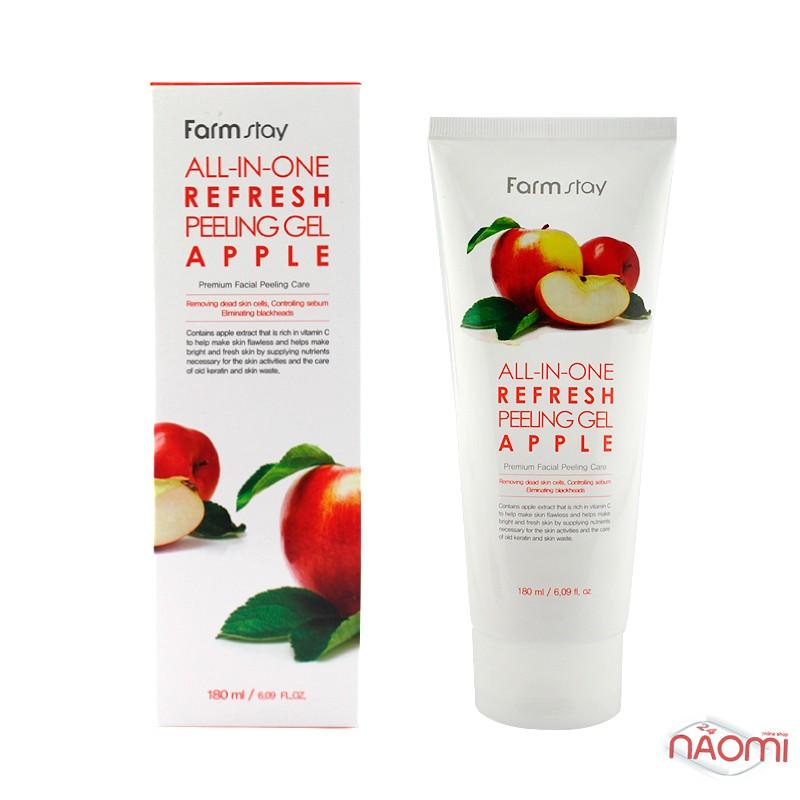 Пилинг-гель для лица Farmstay All-in-One Refresh Peeling Gel Apple с экстрактом яблока, 180 мл, фото 1, 180.00 грн.