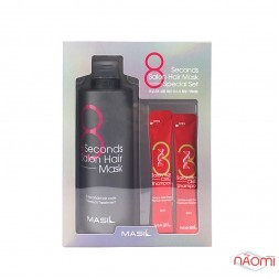 Набор для волос Masil 8 Seconds Salon Hair Mask Special Set, маска для волос, 350 мл + шампунь с аминокислотами, 2x8 мл