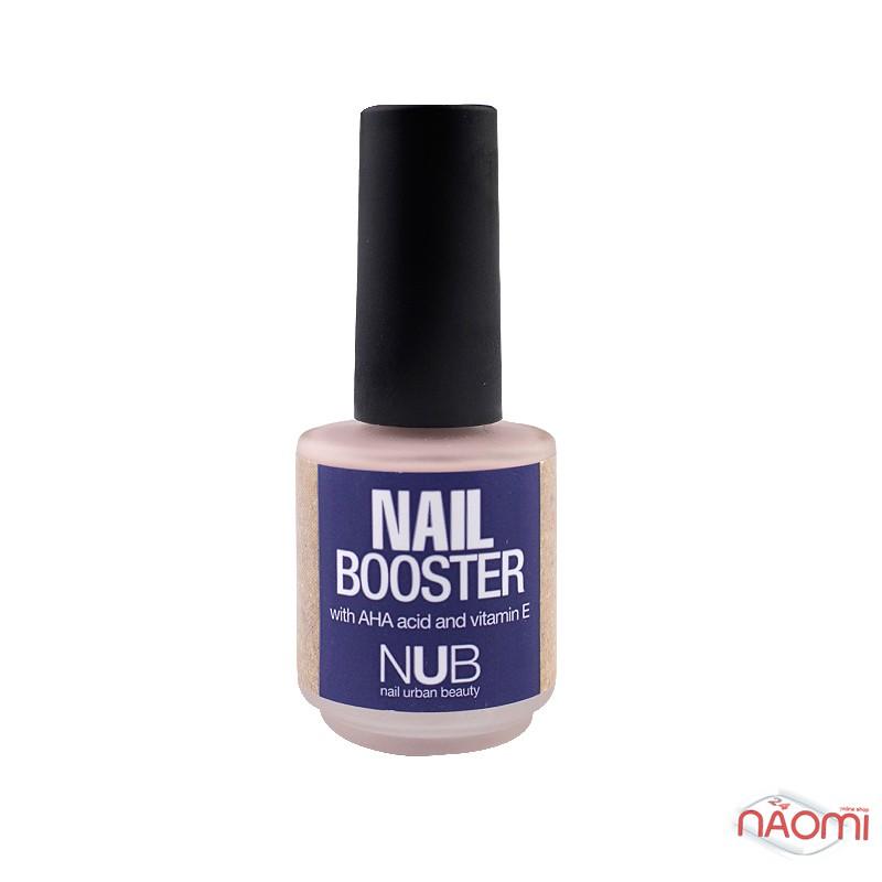 Средство для укрепления ногтей NUB Nail Booster с AHA кислотами и витамином Е, 15 мл, фото 1, 78.00 грн.