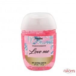 Санитайзер Washyourbody PocketBac Love me, аромат жіночих парфумів, 29 мл