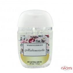 Санитайзер Washyourbody PocketBac Mademoiselle, аромат жіночих парфумів, 29 мл