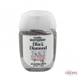 Санитайзер Washyourbody PocketBac Black Diamond, аромат женского парфюма, 29 мл