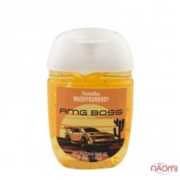 Санитайзер Washyourbody PocketBac AMG Boss, аромат чоловічого парфуму, 29 мл