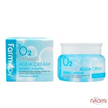 Крем для лица Farmstay O2 Premium Aqua Cream увлажняющий с кислородом, 100 г, фото 1, 209.00 грн.