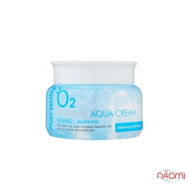 Крем для лица Farmstay O2 Premium Aqua Cream увлажняющий с кислородом, 100 г, фото 2, 209.00 грн.