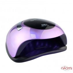УФ LED лампа світлодіодна Sun BQ5T Mirror Violet 120 Вт, з ручкою, таймер 10, 30, 60 і 99 сек, колір дзеркально-фіолетовий