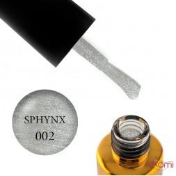 Гель-лак F.O.X Sphynx Cat Eye 002 срібло з голографічним шимером, 7 мл
