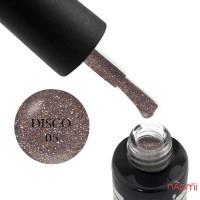 Гель-лак Oxxi Professional Disco 005 цветной микс блесток и шиммеров с бронзовым акцентом на прозрачной основе, светоотражающий, 10 мл