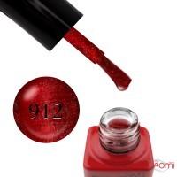 Гель-лак Nails Molekula 9D Quartz Cats Eye 912 малиново-бордовый, с малиново-серебристым кварцевым бликом, 6 мл