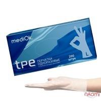 Перчатки из термопластичного эластомера упаковка - 100 пар, размер L, бесцветные