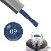 Гель-лак LUXTON Ibiza 009 светоотражающий сине-серебристый с блестками и шиммерами, 10 мл