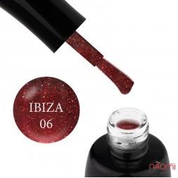 Гель-лак LUXTON Ibiza 006, світловідбиваючий марсаловий з блискітками та шимерами, 10 мл