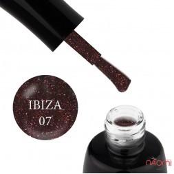 Гель-лак LUXTON Ibiza 007, світловідбиваючий сливовий з блискітками та шимерами, 10 мл