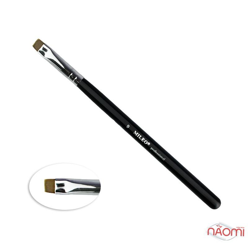 Кисть для окрашивания бровей MILEO 9, прямая, искусственный ворс, ширина 9 мм, фото 1, 85.00 грн.