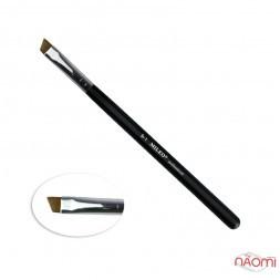 Кисть для окрашивания бровей MILEO 9-1, скошенная, искусственный ворс, ширина 9 мм