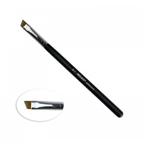 Кисть для окрашивания бровей MILEO 9-1, скошенная, искусственный ворс, ширина 9 мм, фото 1, 85.00 грн.