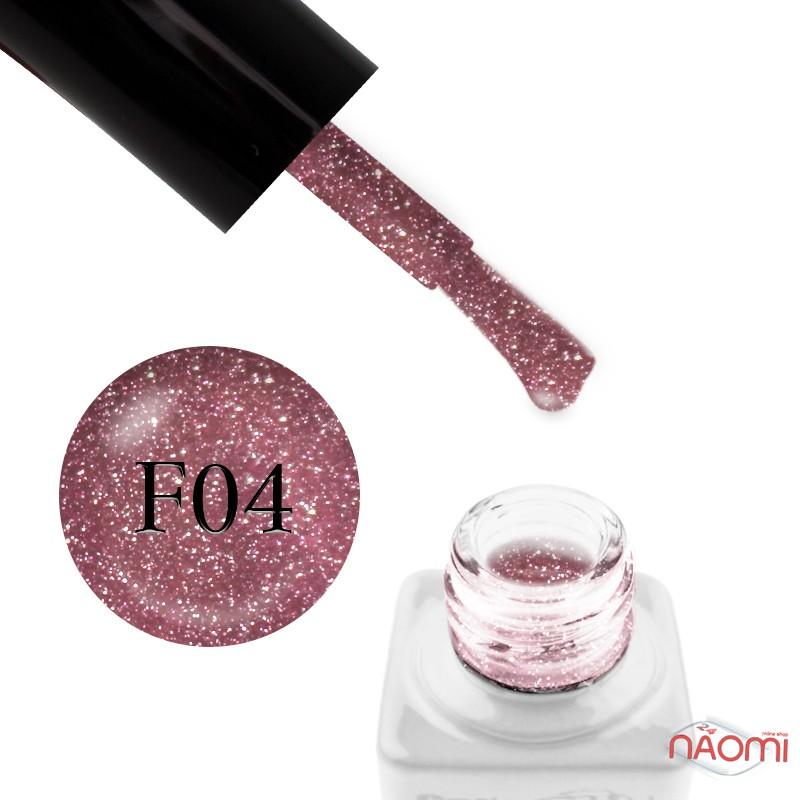 Гель-лак Nails Molekula Flash Effect F04 светоотражающий розовый с серебристыми блестками и шиммерами, 6 мл, фото 1, 100.00 грн.