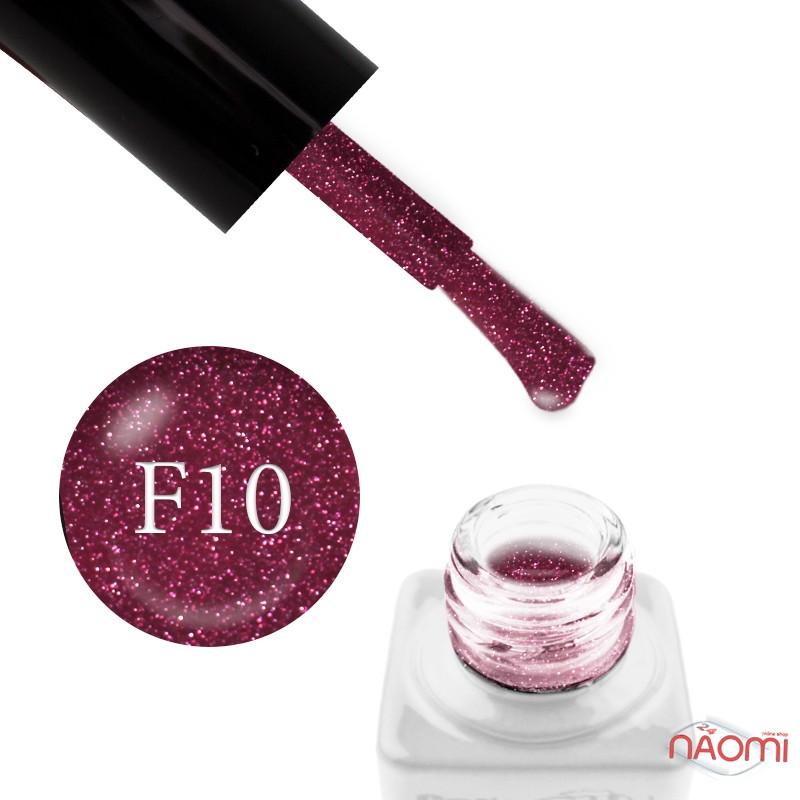 Гель-лак Nails Molekula Flash Effect F10 светоотражающий малиновый с серебристыми блестками и шиммерами, 6 мл, фото 1, 100.00 грн.