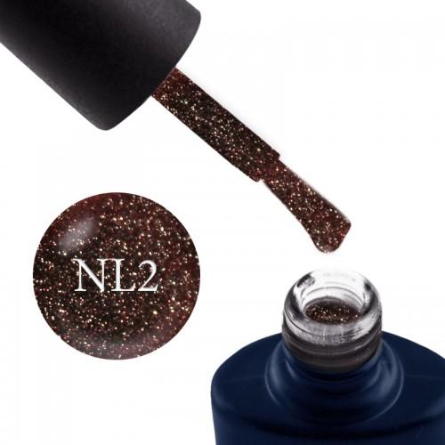 Гель-лак NUB Night Light 02 Golden Honey теплый кофейно-медовый с блестками и шиммерами, светоотражающий, 8 мл, фото 1, 169.00 грн.