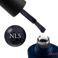Гель-лак NUB Night Light 05 Dark Sky ночной синий с блестками и шиммерами, светоотражающий, 8 мл