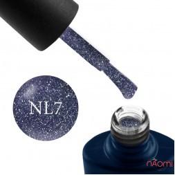Гель-лак NUB Night Light 07 Bright Lilac сиренево-аметистовый с блестками и шиммерами, светоотражающий, 8 мл