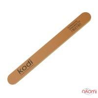 Пилка для ногтей Kodi Professional 180/180 прямая, цвет золотистый