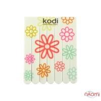 Набор детских пилок для ногтей Kodi Professional 220/400, прямые, 7 шт., цвет белый