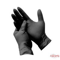 Рукавички вініл-нітрилові упаковка - 50 пар, розмір M (без пудри), щільність 5,2 г, чорні