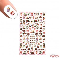 Наклейка для нігтів LBS F 410 Морозиво, ягоди