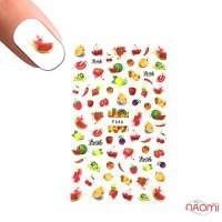 Наклейка для ногтей LBS F 646 Фрукты, ягоды