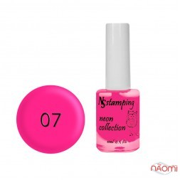 Лак для стемпінгу Nail Story Stamping Neon 07, світло-рожевий, 11 мл