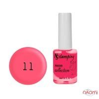 Лак для стемпинга Nail Story Stamping Neon 11, розовый фламинго, 11 мл