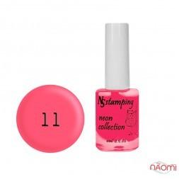 Лак для стемпінгу Nail Story Stamping Neon 11, рожевий фламінго, 11 мл