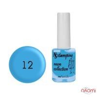 Лак для стемпинга Nail Story Stamping Neon 12, голубой, 11 мл