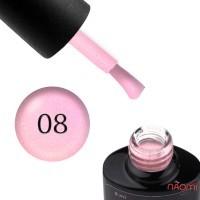 База цветная Saga Professional Color Base 008, холодный розовый с переливающимися шиммерами, 8 мл