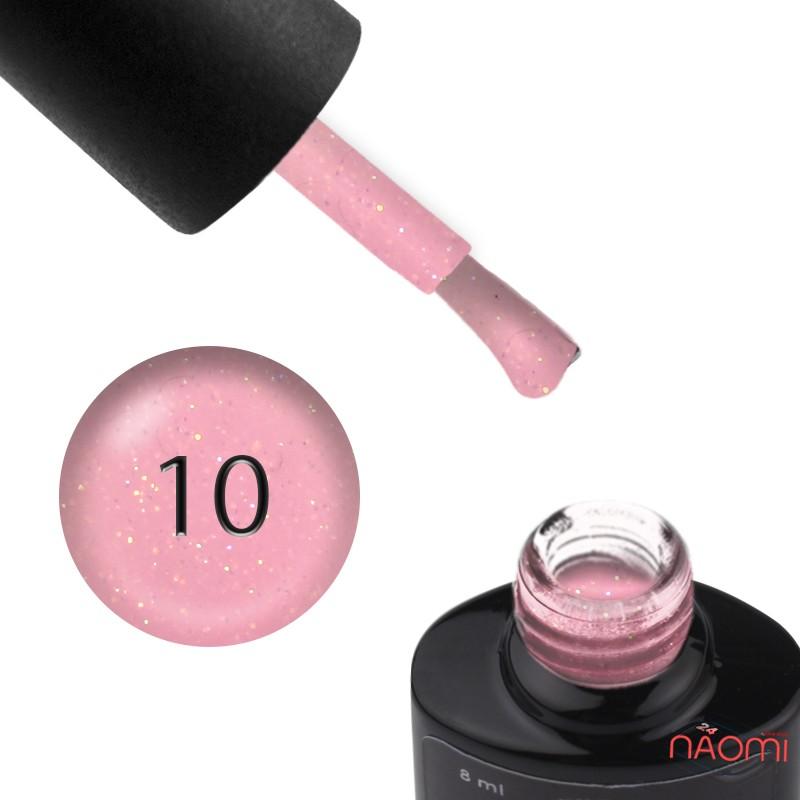 База цветная Saga Professional Color Base 010, светлый розовый с переливающимися шиммерами, 8 мл, фото 1, 130.00 грн.