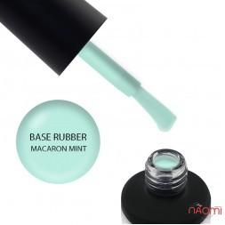 База цветная каучуковая Nails Molekula Base Rubber Color Coat Macaron Mint, мятный, 12 мл