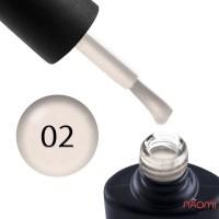Гель-лак NUB Naked 02 Milk Opal молочный айвори с переливающимися шиммерами и микрослюдой, 8 мл