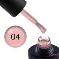 Гель-лак NUB Naked 04 Rose Spark пастельно-розовый с переливающимися шиммерами и микрослюдой, 8 мл